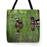 Wood Duck Couple Tote Bag