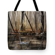Wood Duck On Pond Tote Bag
