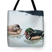 Wood Ducks Tote Bag