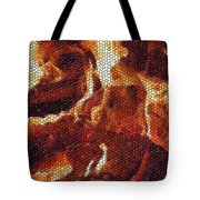 Wood Fire Mosaic Tote Bag