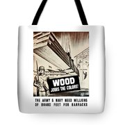 Wood Joins The Colors - Ww2 Tote Bag