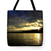 Wood Lake Sunburst Tote Bag