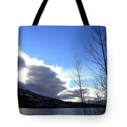 Wood Lake Sunrise Tote Bag