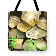 Wood Pile Tote Bag