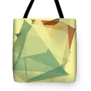 Wood Polygon Pattern Tote Bag