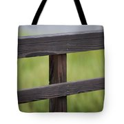 Wood Railing Over The Marsh Tote Bag