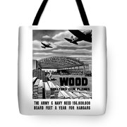 Wood Shelters Our Planes - Ww2 Tote Bag