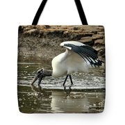 Wood Stork Fishing Tote Bag