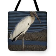 Wood Stork In The Final Light Of Day Tote Bag