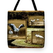 Wood Storks Of Oak Grove Island Tote Bag