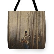 Wood With Soldiers Tote Bag