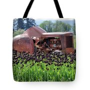 Woodburn Oregon - Tractor And Field Of Tulips Tote Bag