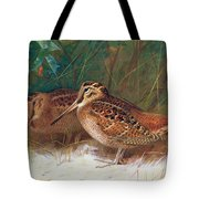 Woodcock In The Undergrowth Tote Bag