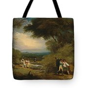 Woodcutters In Windsor Park Tote Bag