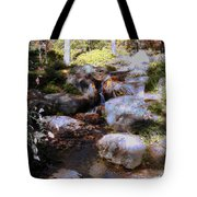 Wooded Blue Brook Tote Bag