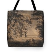 Wooded Landscape With Rainbow Tote Bag