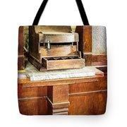 Wooden Bank Cash Register Tote Bag
