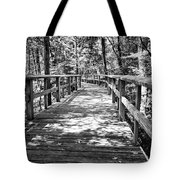 Wooden Boardwalk B Tote Bag