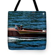 Wooden Boat Waves On Tahoe Tote Bag