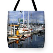 Wooden Boats On The Water Tote Bag
