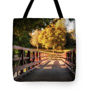 Wooden Bridge On The Rye Water - Maynooth, Ireland Tote Bag