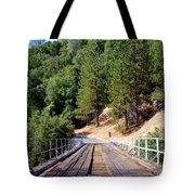 Wooden Bridge Over Deep Gorge Tote Bag