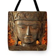 Wooden Buddha Tote Bag