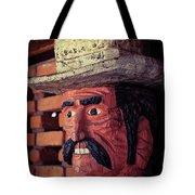 Wooden Cowboy Tote Bag