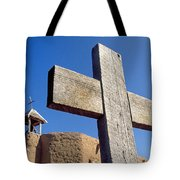 Wooden Cross And Penitente Church Tote Bag