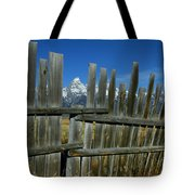 Wooden Fence, Grand Tetons Tote Bag