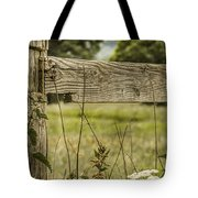 Wooden Fence Post. Tote Bag