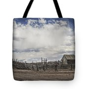 Wooden Fenced Corral Out West Tote Bag