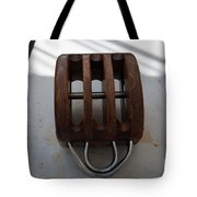 Wooden Line Block Off Tall Ship Tote Bag