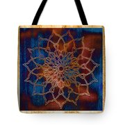 Wooden Mandala Tote Bag