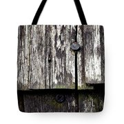 Wooden Plate With  Nails Tote Bag