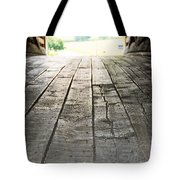 Wooden Road Tote Bag