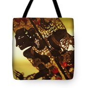 Wooden Shadow Puppets Tote Bag