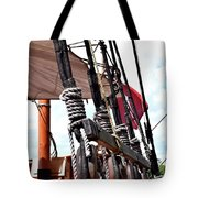 Wooden Ship Blocks And Tackle 13921 Tote Bag