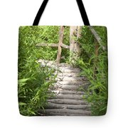 Wooden Stairs Tote Bag