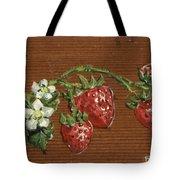 Wooden Strawberries Tote Bag