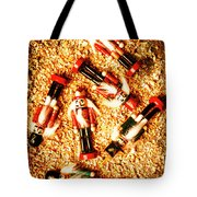 Wooden Toy Soldiers Tote Bag
