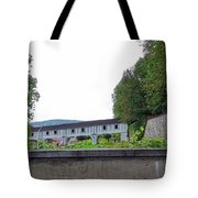 Wooden Walkway As Seen From The Cesky Krumlov Casle Gardens  Tote Bag