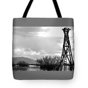 Wooden Windmill Tower Tote Bag