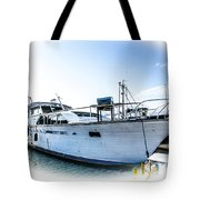 Wooden Yacht In Mooring Tote Bag