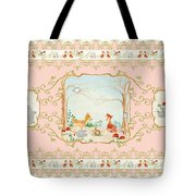 Woodland Fairy Tale - Blush Pink Forest Gathering Of Woodland Animals Tote Bag