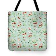 Woodland Fairy Tale - Red Mushrooms N Owls Tote Bag