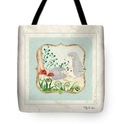Woodland Fairy Tale - Woodchucks In The Forest W Red Mushrooms Tote Bag