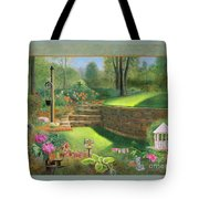 Woodland Garden In A Small Town Tote Bag