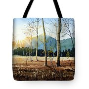 Woodland Sunset Tote Bag