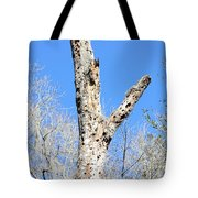 Woodpecker Was Here Tote Bag